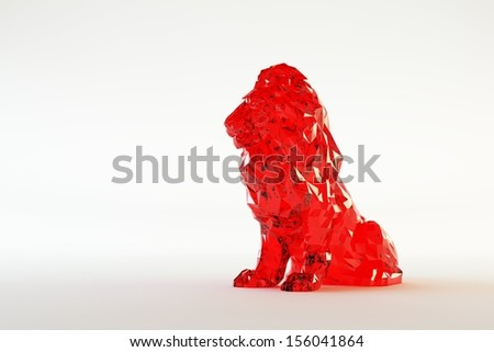 Glass Lion  - stock photo