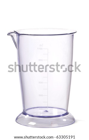 Glass Measuring Jug Isolated On White Background