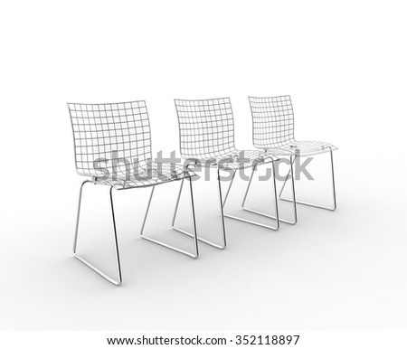 Glass Modern Chairs Side View
