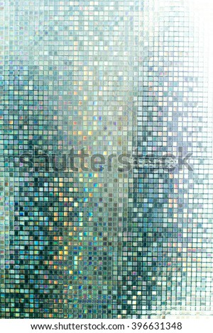 Glass mosaic in the bathroom. - stock photo