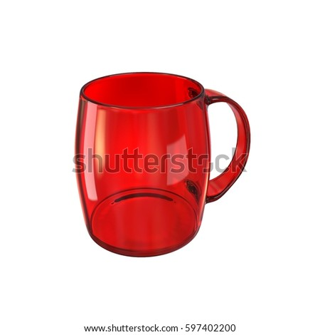 Glass mug glassful red cup