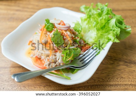 Glass Noodle,Pork,Nut Spicy Salad