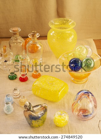 Glass objects - stock photo