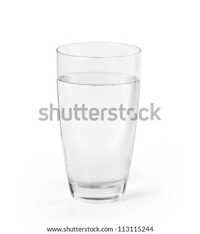 Glass of a water - stock photo