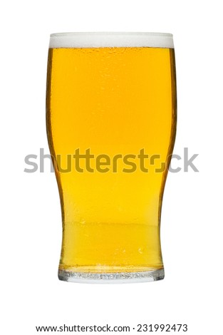 Glass of beer a popular alcoholic drink served in bars and a favourite refreshment at celebrations in the summer.