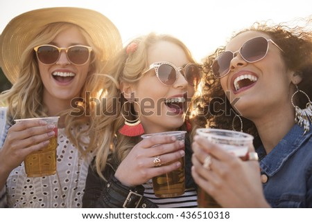 Glass of beer and great fun