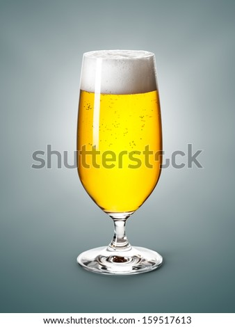Glass of beer. Clipping path included.
