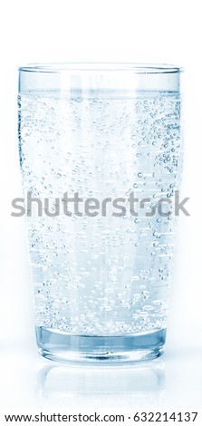glass of carbonated water
