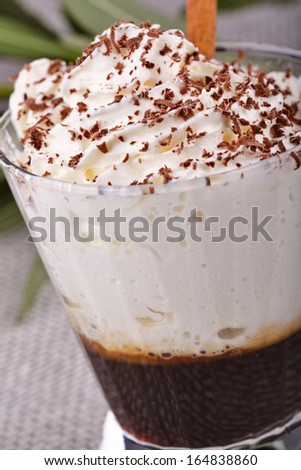Glass of coffee cocktail - stock photo