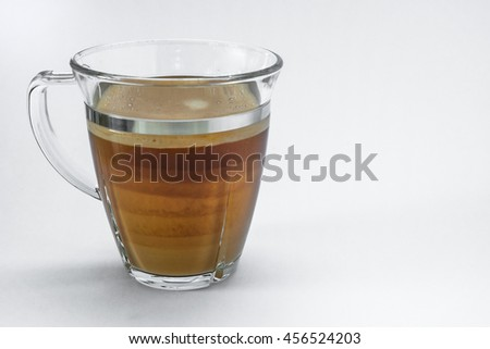 glass of coffee on white background