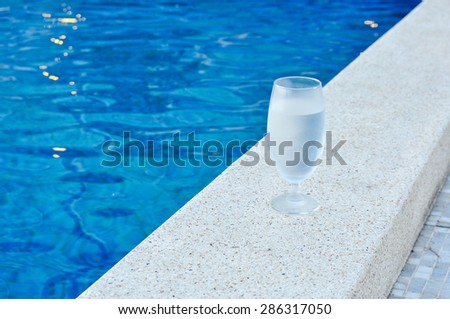 glass of cool water  - stock photo