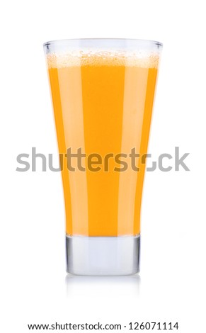Glass of Fresh  Juice Isolated on White Background