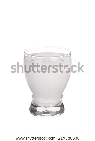 glass of fresh milk isolated on white background.