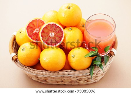 glass of fresh orange juice - food and drink