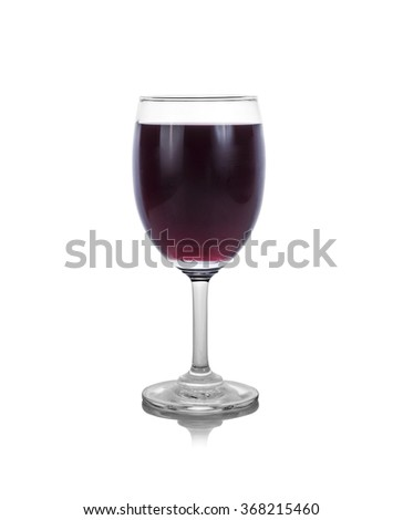 glass of grape juice on white background - stock photo