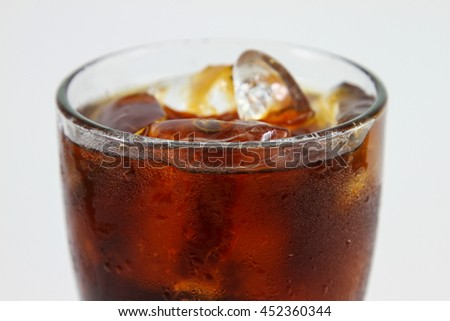 glass of iced tea isolated on white