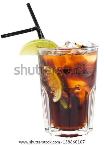 Glass of Iced Tea with Lemon Wedges