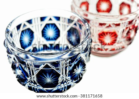 Glass of Japanese SAKE on white background
