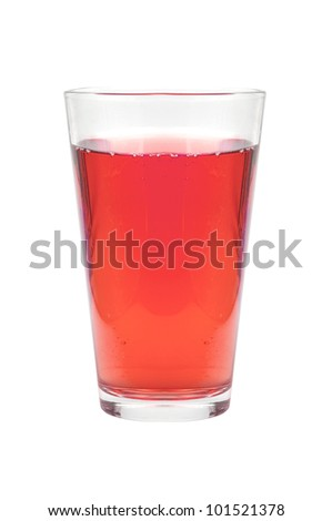 glass of juice isolated on white
