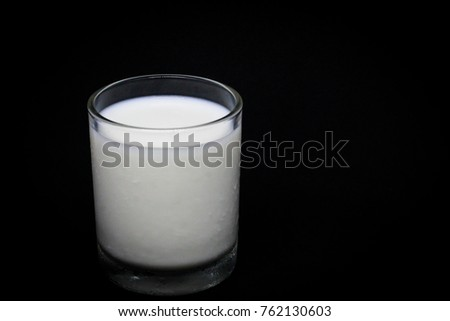 Glass of Milk Give Protein, Dark Background