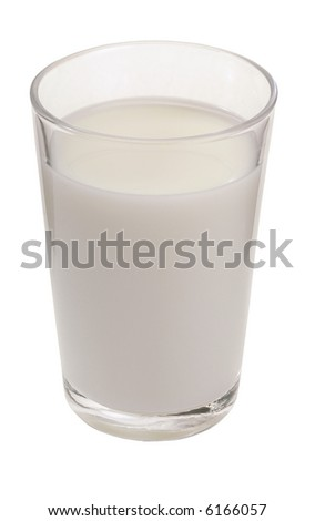 Glass Of Milk - isolated on white