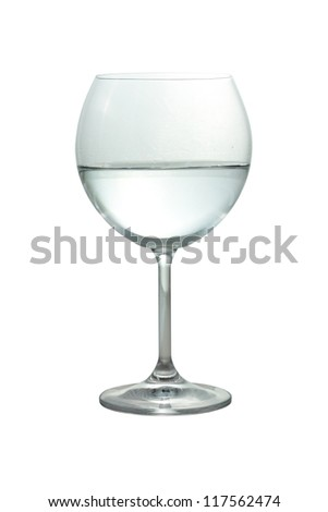 glass of mineral water cut and isolated