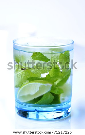 Glass of Mojito drink