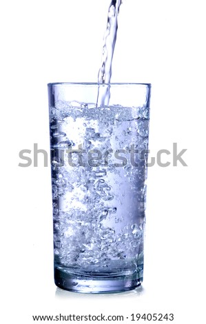 glass of natural water