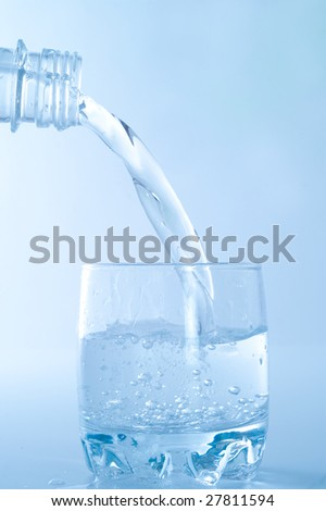 glass of pure minerals water