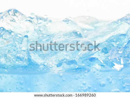 Glass of pure water with ice - stock photo