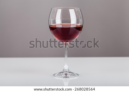 Glass of red wine - stock photo