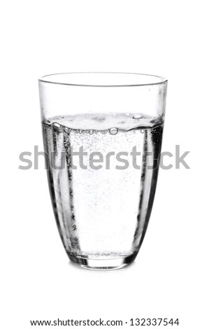 Glass Of Sparkling Mineral Water