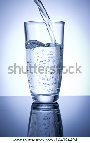 glass of water - stock photo