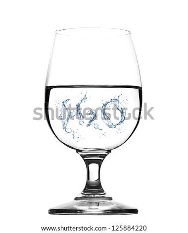 Glass of water -concept - stock photo