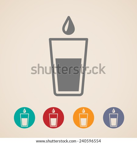 glass of water icons  - stock photo