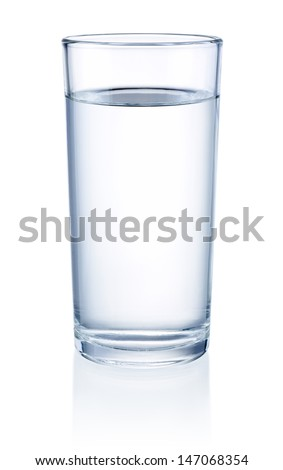 Glass of Water isolated on a white background - stock photo
