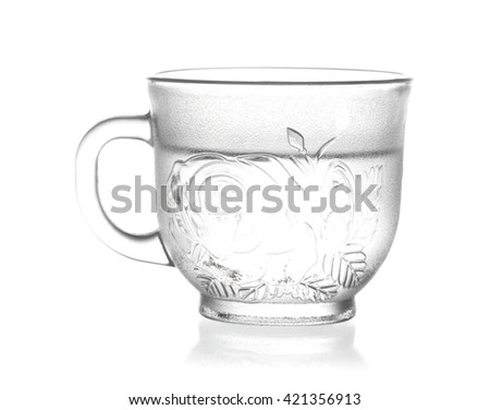 Glass of water isolated on white background.