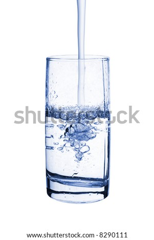 Glass of water, isolated on white background