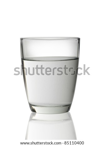 Glass of water isolated on white background - stock photo