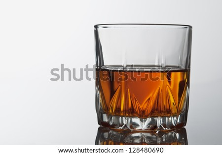glass of whiskey on table