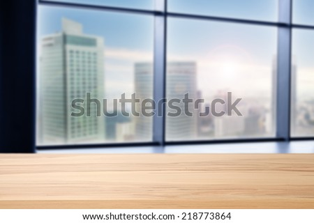 glass of window and city space  - stock photo
