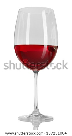 Glass of wine on grey background