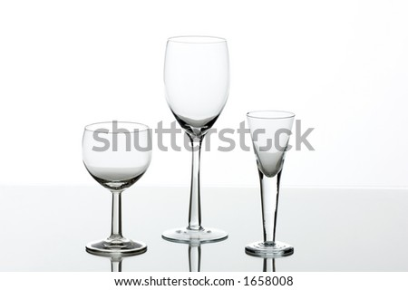 Glass on a table