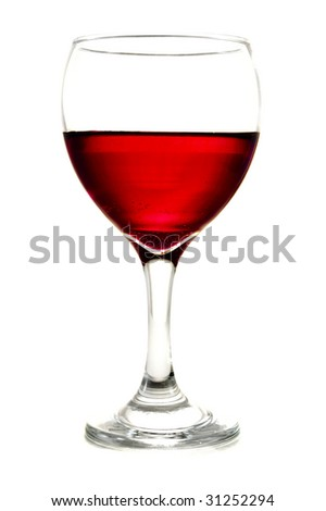 glass on white - stock photo