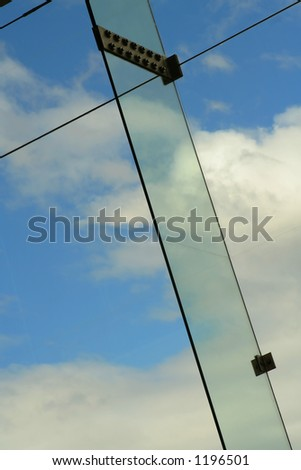 glass pane and sky