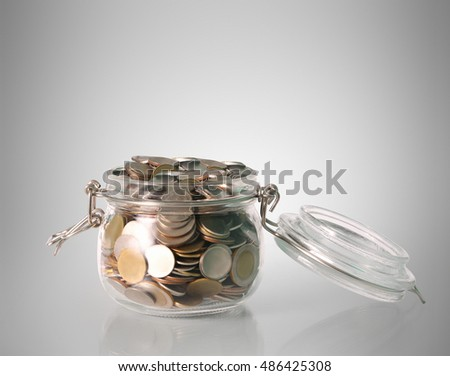 glass piggy a bank isolated