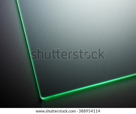 Glass plate abstract - stock photo