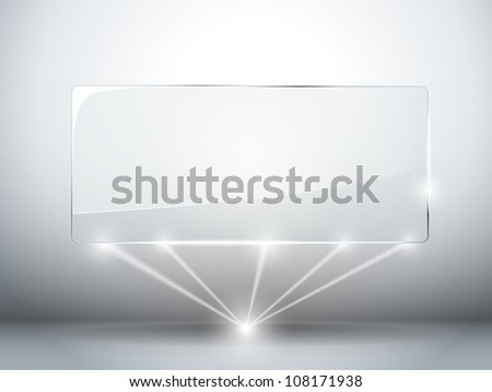 Glass Plate Background with Lasers - stock photo