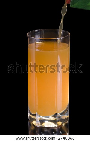 glass pour juice