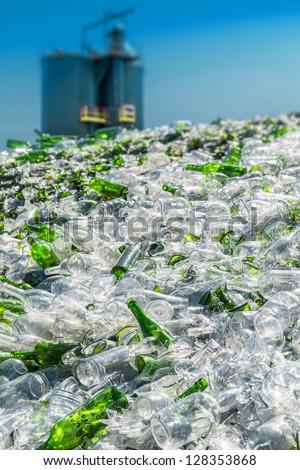 glass processing - stock photo